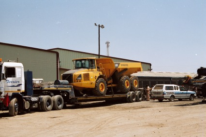 2002 - Moving mining equipment